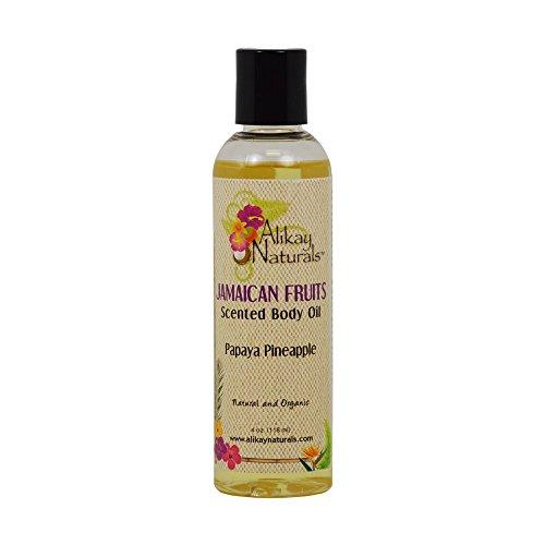 ALIKAY JAMAICAN FRUITS SCENTED BODY OILS PAPAYA PINEAPPLE