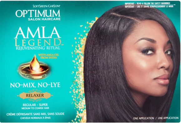 SoftSheen-Carson Optimum Salon Haircare AMLA Legend Rejuvenating Ritual Relaxer, one application