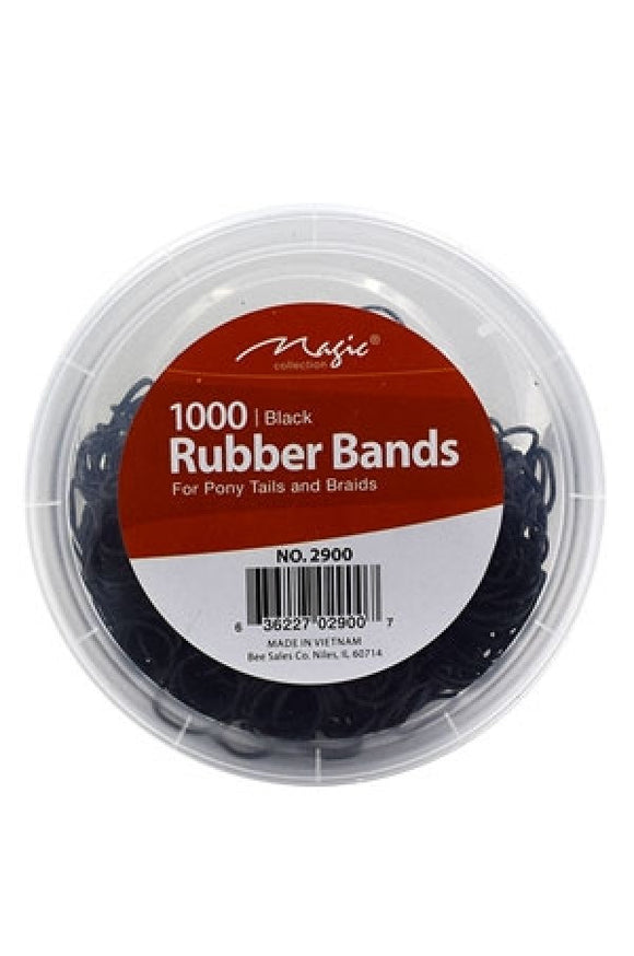 Magic Rubber Band Black (400pcs/jar) -jar NON EASY SNAP