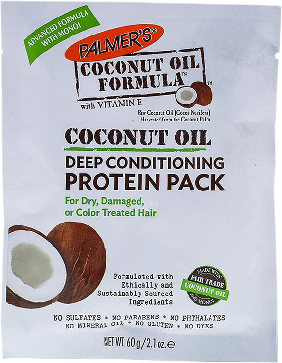 Palmer's Coconut Oil Formula Coconut Oil Deep Conditioning Protein Pack, 2.1 Oz