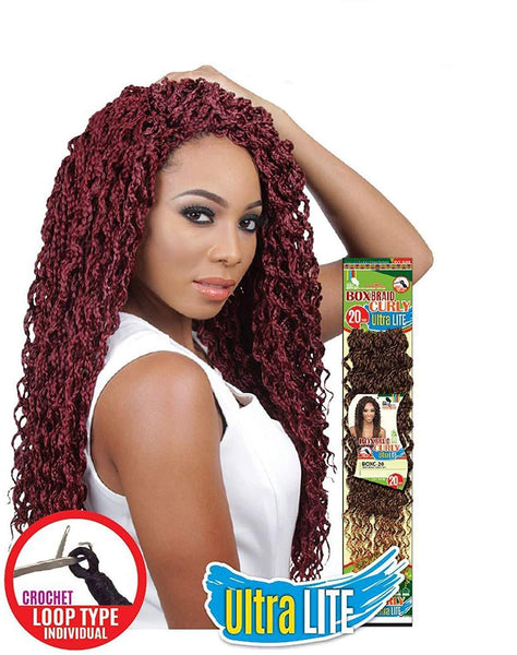 BOX BRAID CURLY ULTRA LITE 20 INCHES