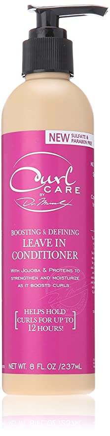 Dr. Miracle's Curl Care Leave In Conditioner 8oz for Kinky Wavy Hair Curl Boost