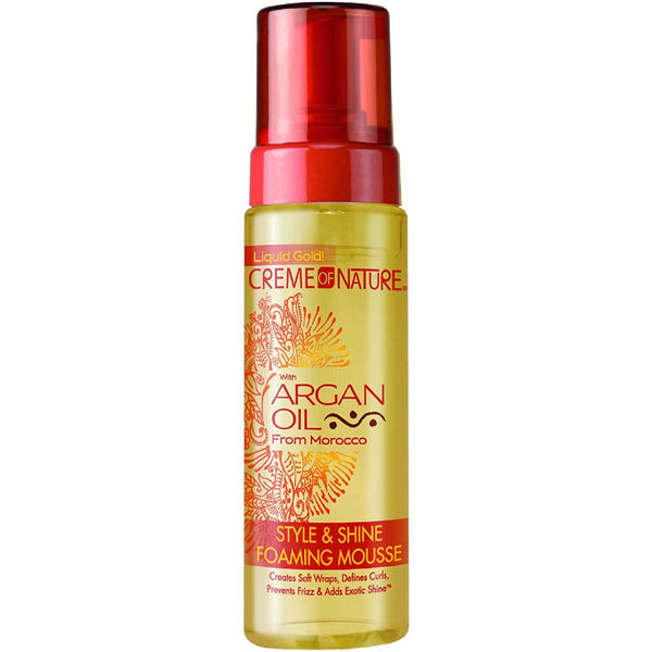 CREME NATURE ARGAN STYLE & SHINE FOAMING MOUSSE