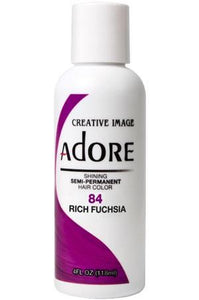 Adore  Semi Permanent Hair Color (4 oz)- #84 Fiesta Fuchsia - KYROCHE BEAUTY SUPPLIES