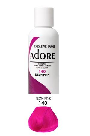 Adore  Semi Permanent Hair Color (4 oz)- #140 Neon Pink - KYROCHE BEAUTY SUPPLIES