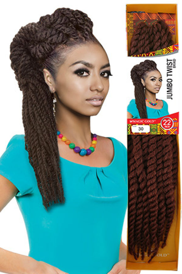 Magic Gold Jumbo Twist Braid 22