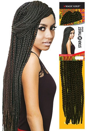 Magic Gold Star (M) Twist Braid 24