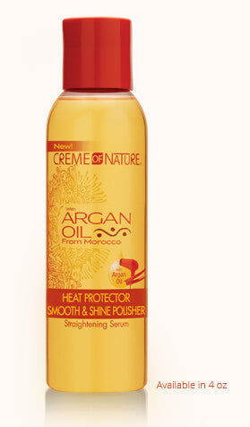 CREME OF NATURE ARGAN OIL HEAT PROTECTOR SMOOTH & SHINE POLISHER