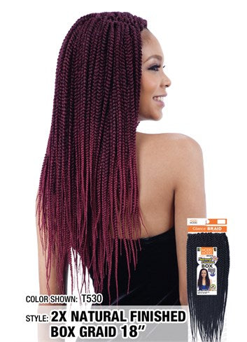 MODEL MODEL 2X NATURAL FINISHED BOX BRAID 18""