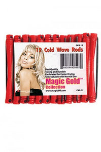 "Magic Gold Cold Wave Rods Long 2/16"" Red #CWR-15"