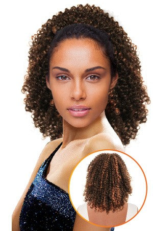 Magic Gold Drawstring Ponytail - Bluebell