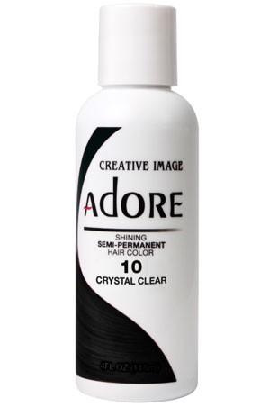 Adore Semi Permanent Hair Color (4 oz)- #10 Crystal Clear - KYROCHE BEAUTY SUPPLIES