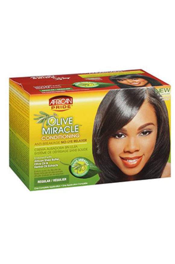 African Pride Olive Miracle No-Lye Relaxer (Regular)