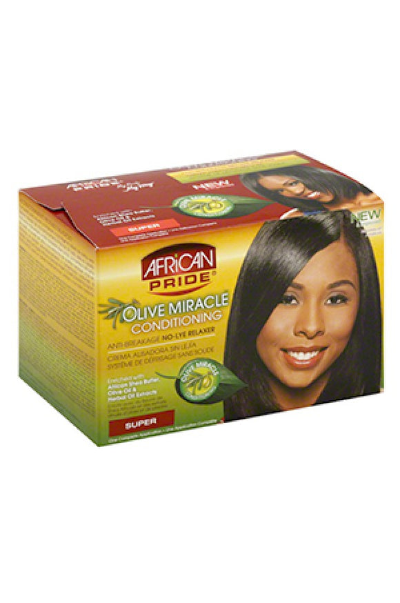 African Pride Olive Miracle No-Lye Relaxer System (Super)