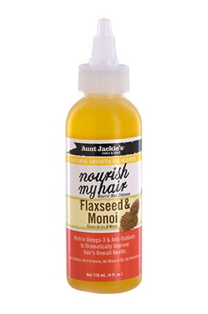 Aunt Jackie's Natural Growth Oil-Flaxseed&Monoi (4oz)