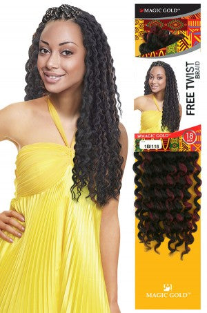 Magic Gold Free Twist Braid