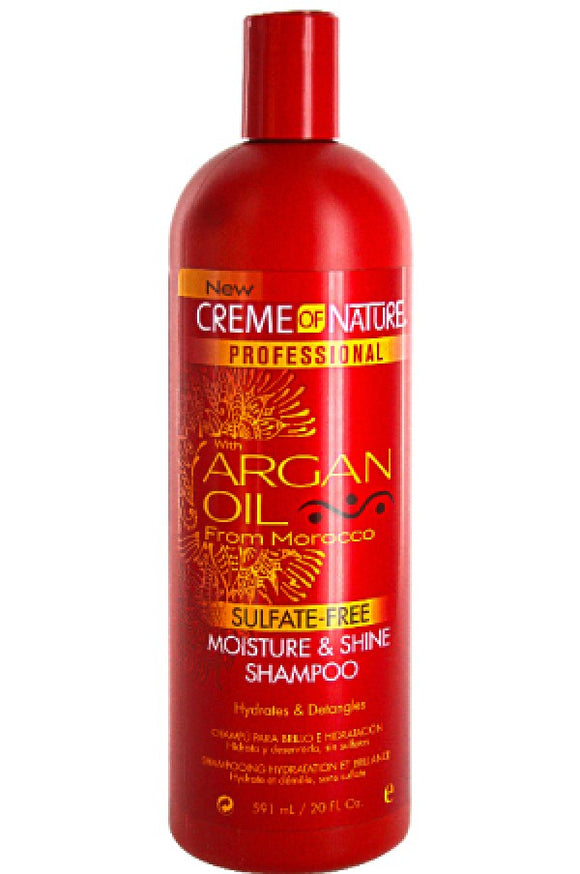 Creme of Nature ARGAN OIL FROM MOROCCO Moisture & Shine Shampoo 20oz