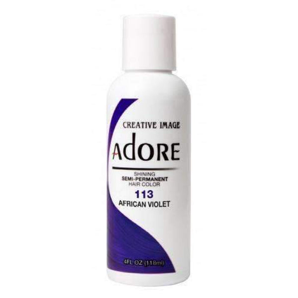 Adore  Semi Permanent Hair Color (4 oz)- #113 african violet