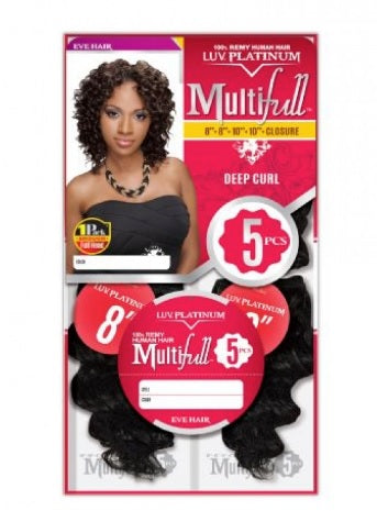 Eve Hair Multifull Deep Curl Human Hair Extension color #4