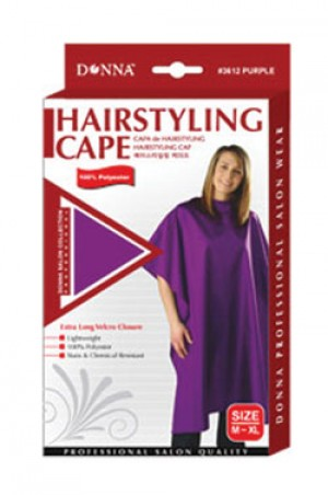 Donna Hairstyling Cape Velcro Closure (M-XL)