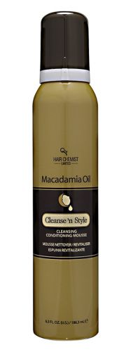 Hair Chemist Macadamia Oil Cleanse N' Style Conditioning Mousse 6.3 oz