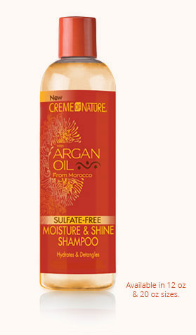 CREME OF NATURE ARGAN OIL SULPHATE FREE MOISTURE AND SHINE SHAMPOO