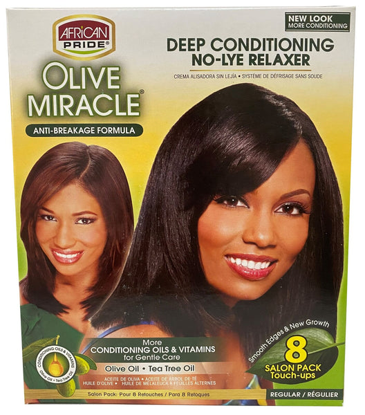 African Pride Olive Miracle No Lye Relaxer [1 touch 2app]