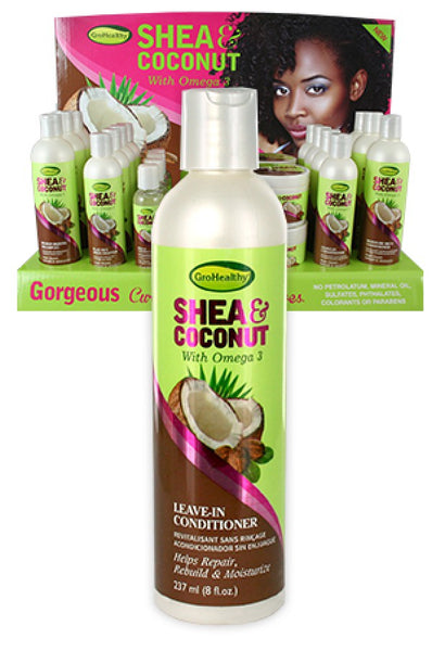 Soft 'N Free Gro healthy Shea and Coconut Leave in conditioner (8oz)