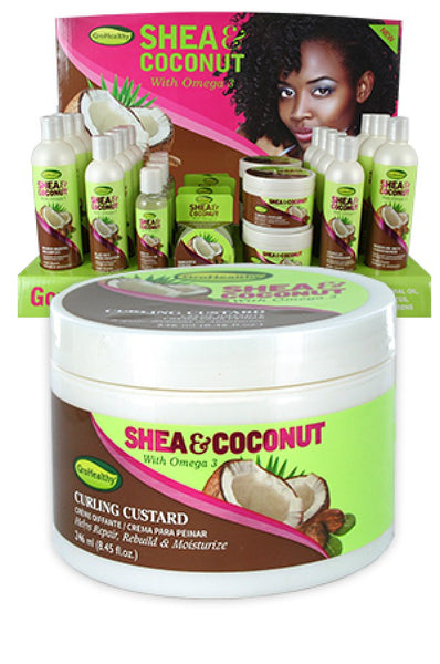 Sof 'N Free Gro healthy Shea and Coconut Curling Custard