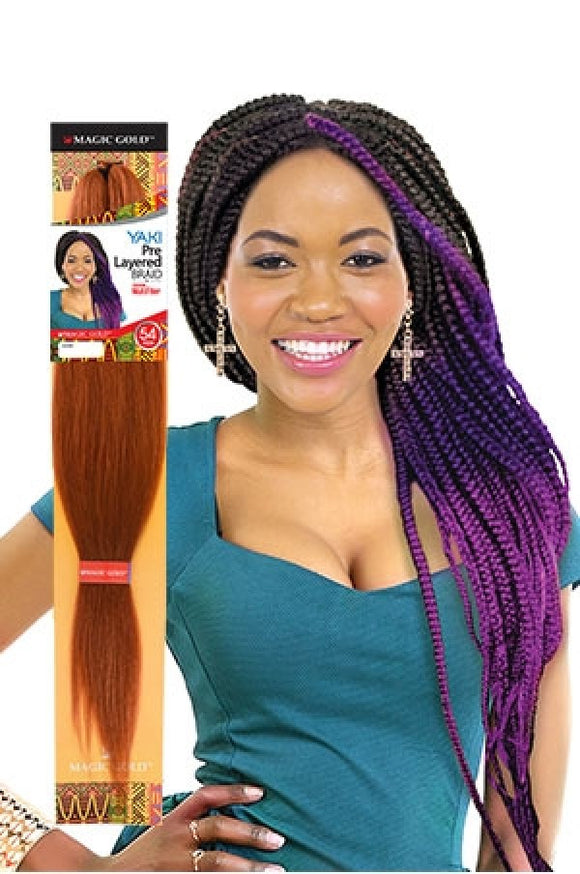 Magic Gold YAKI Pre Layered Braid 54
