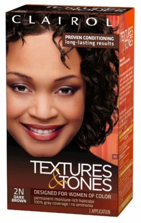 Clairol Textures & Tones Permanent Creme Hair Color 2N Dark Brown