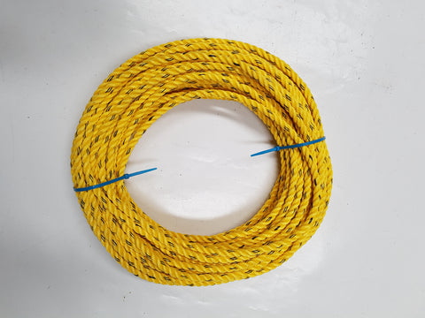 Cray Pot Rope 11mm - 30m Coil - Yellow Colour - Medium Hard Lay - Diamond Networks