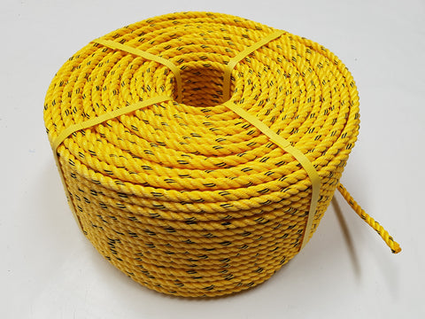 Cray Pot Rope 11mm - 220m Coil - Yellow Colour - Medium Hard Lay - Diamond Networks