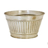 LARGE BRASS CHAMPAGNE BUCKET WITH SILVER FINISH