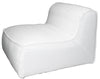 LORENZO SINGLE SEATER SLIP COVER SOFA WHITE LINEN