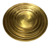 SET/5 ROUND PLATTERS BRASS FINISH