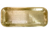 MEDIUM BRASS RECTANGULAR TRAY WITH ANTIQUE BRASS FINISH