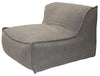 LORENZO SINGLE SEATER SLIP COVER SOFA TAUPE