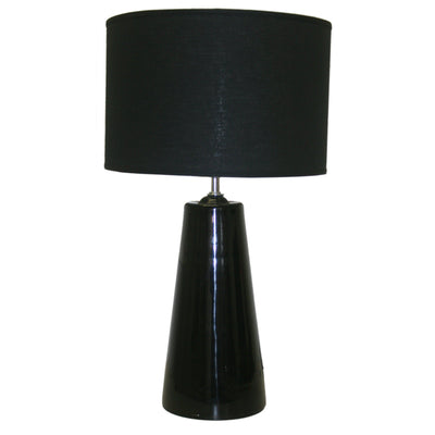 BLACK GLASSTABLE LAMP BASE ONL-Default-BisqueTraders