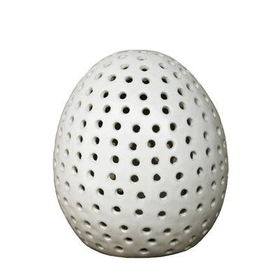 EGG CERAMIC TEA CANDLE COVER-Default-BisqueTraders