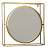 BRASS COATED SQUARE IRON SWIVELL MIRROR