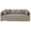 KHALIA THREE SEATER SOFA TAUPE