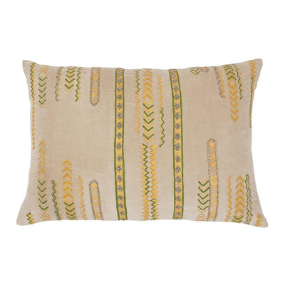 EMBROIDERED FOIL PRINT CUSHION
