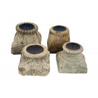 PILLAR BASE CANDLE HOLDERS W/W-Default-BisqueTraders