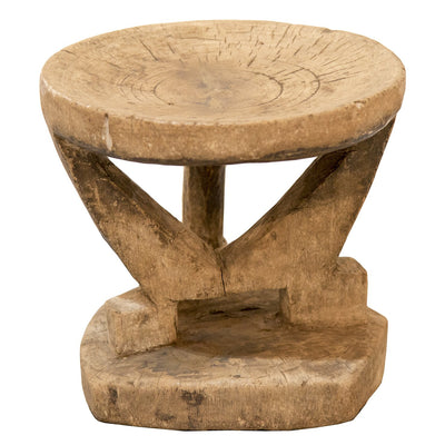 ANTIQUE TONGA STOOL-Default-BisqueTraders
