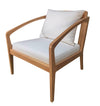 ANGELICA CANVAS ARM CHAIR, WHITE