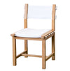 ISABELLA CANVAS DINING CHAIR, WHITE