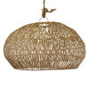 RATTAN ANGULAR PENDANT, SMALL NATURAL