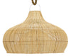 RATTAN WIDE FISH TRAP PENDANT