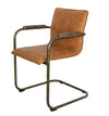 ALESSIA LEATHER DINING CHAIR COGNAC
